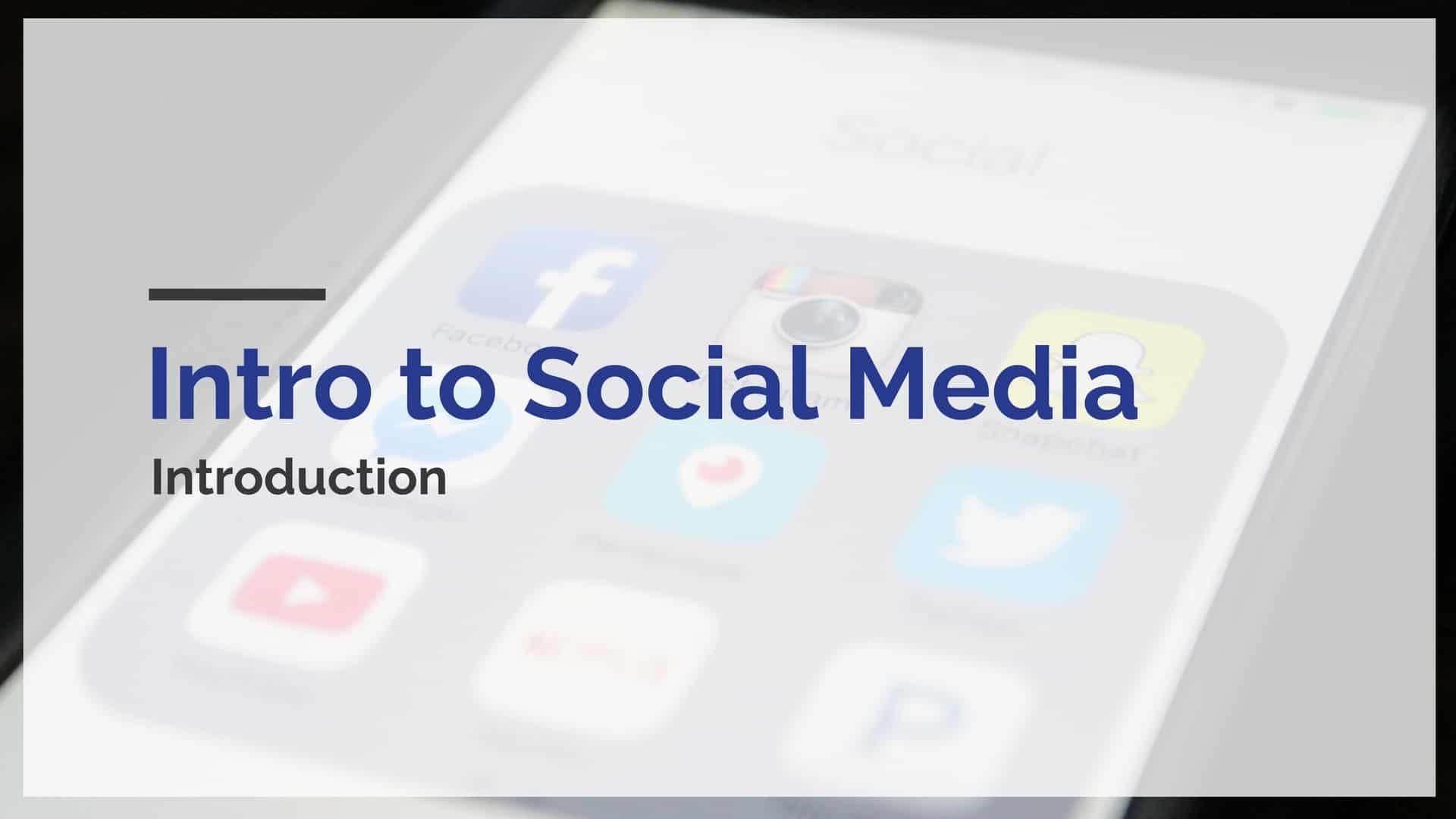 intro to social media course