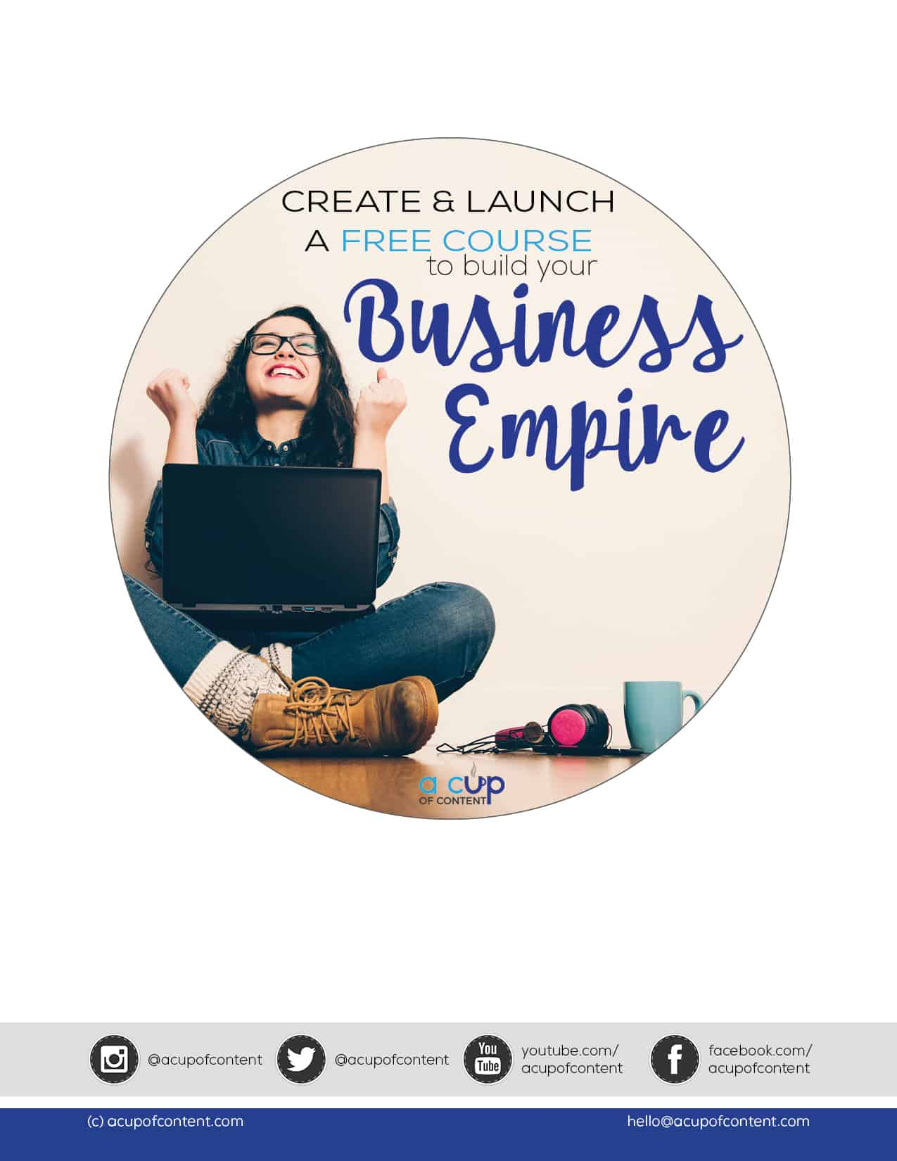 create and launch a free course to build your business empire