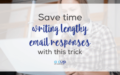 Save time writing lengthy email responses with this trick