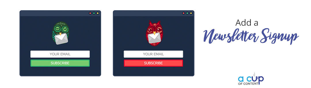 add a newsletter signup form