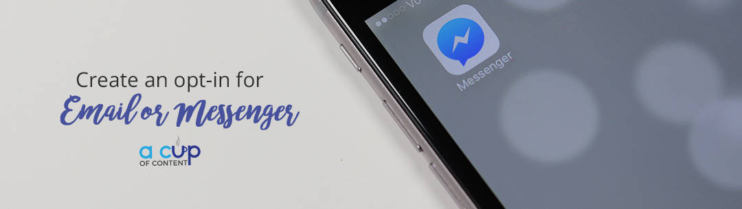 create facebook messenger opt-in