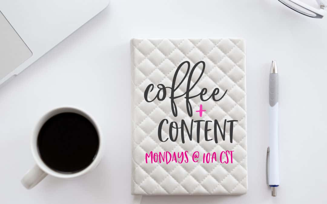 NEW! Facebook Live show: Coffee+Content, Episode 1