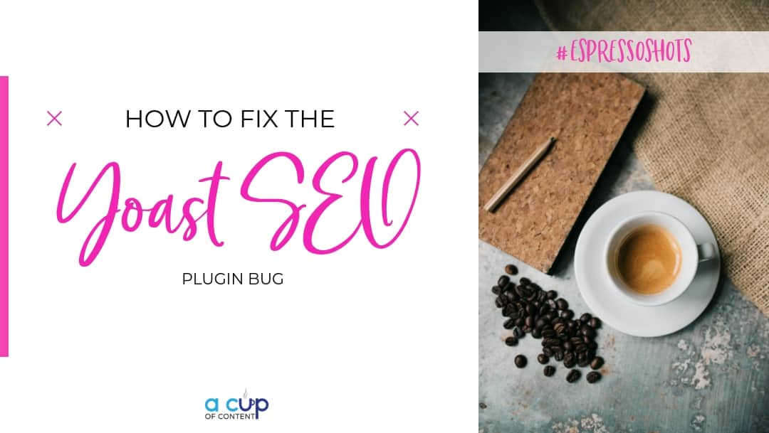 how to fix the yoast seo plugin bug