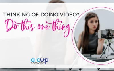 IGTV Episode 1: Thinking of doing video? Do this one thing.