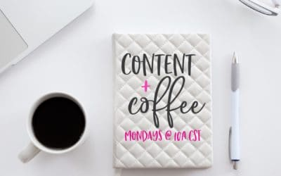 NEW! Facebook Live show: Content+Coffee, Episode 1
