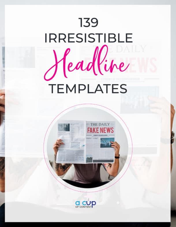 headline template swipe file
