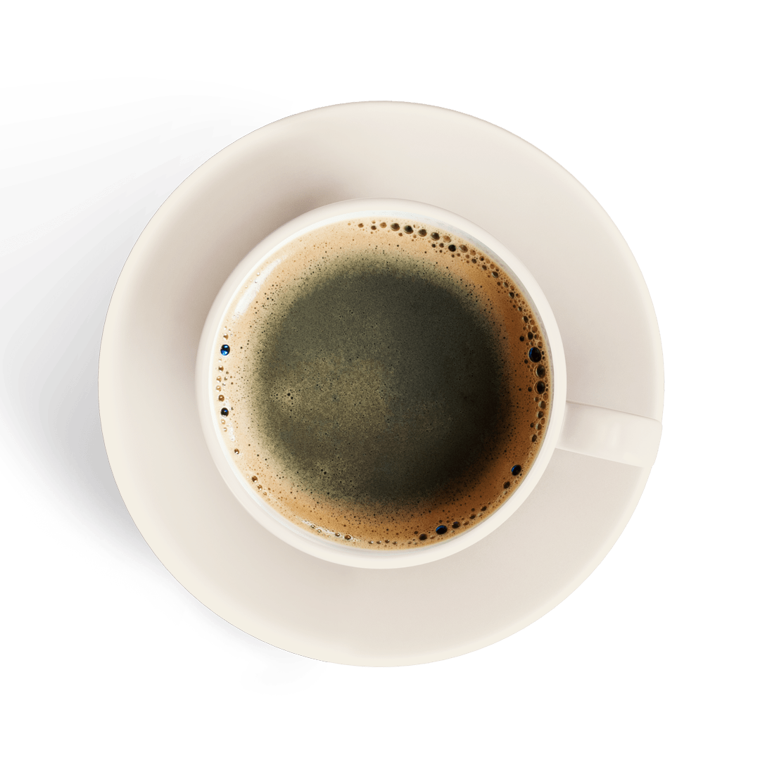 americano in a white cup isolated