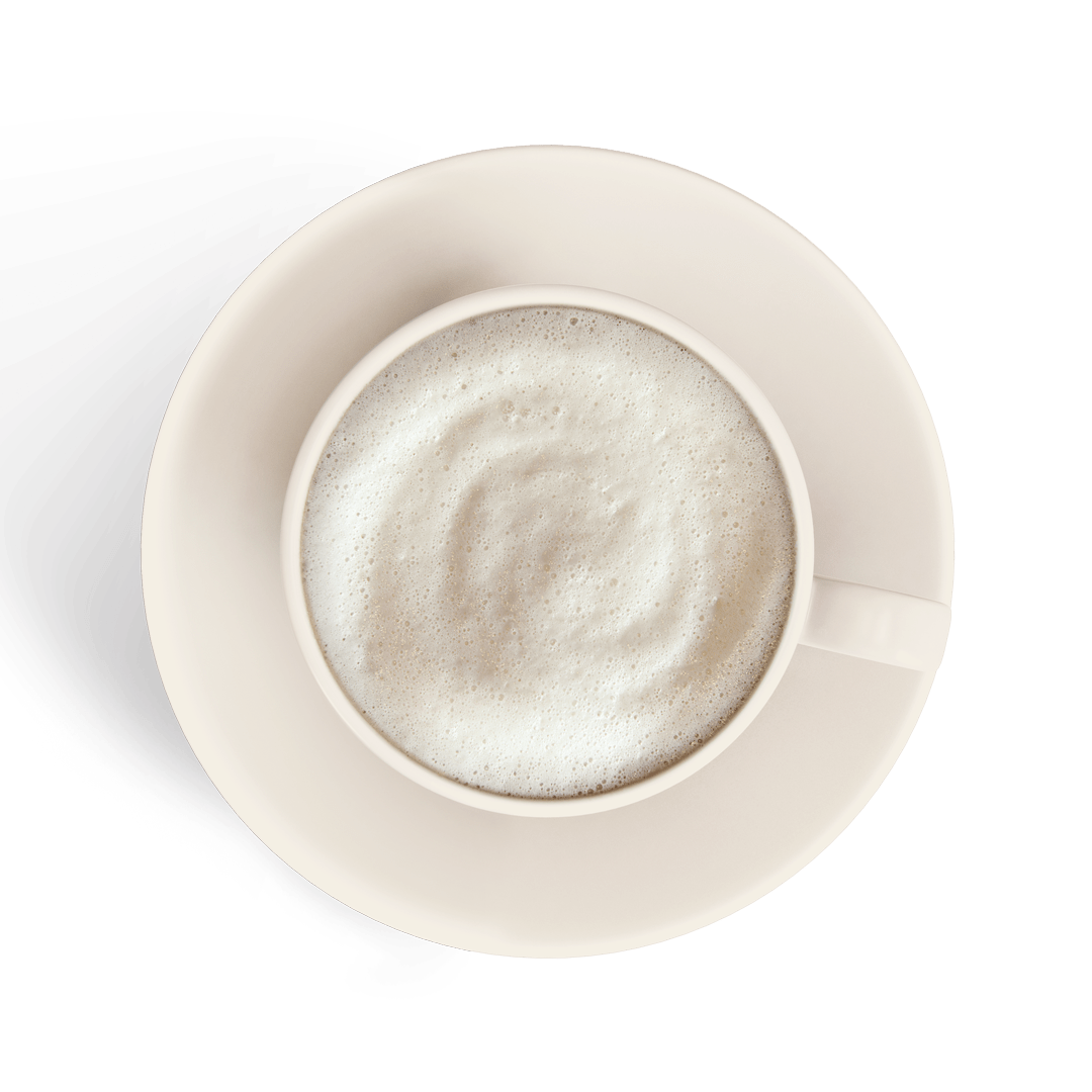 frappe in a white cup isolated