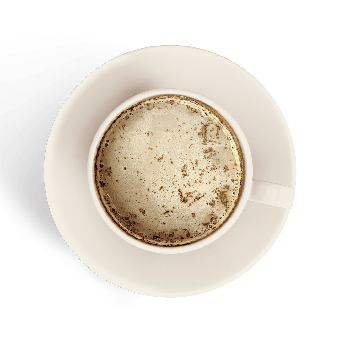 mocha in a white cup isolated