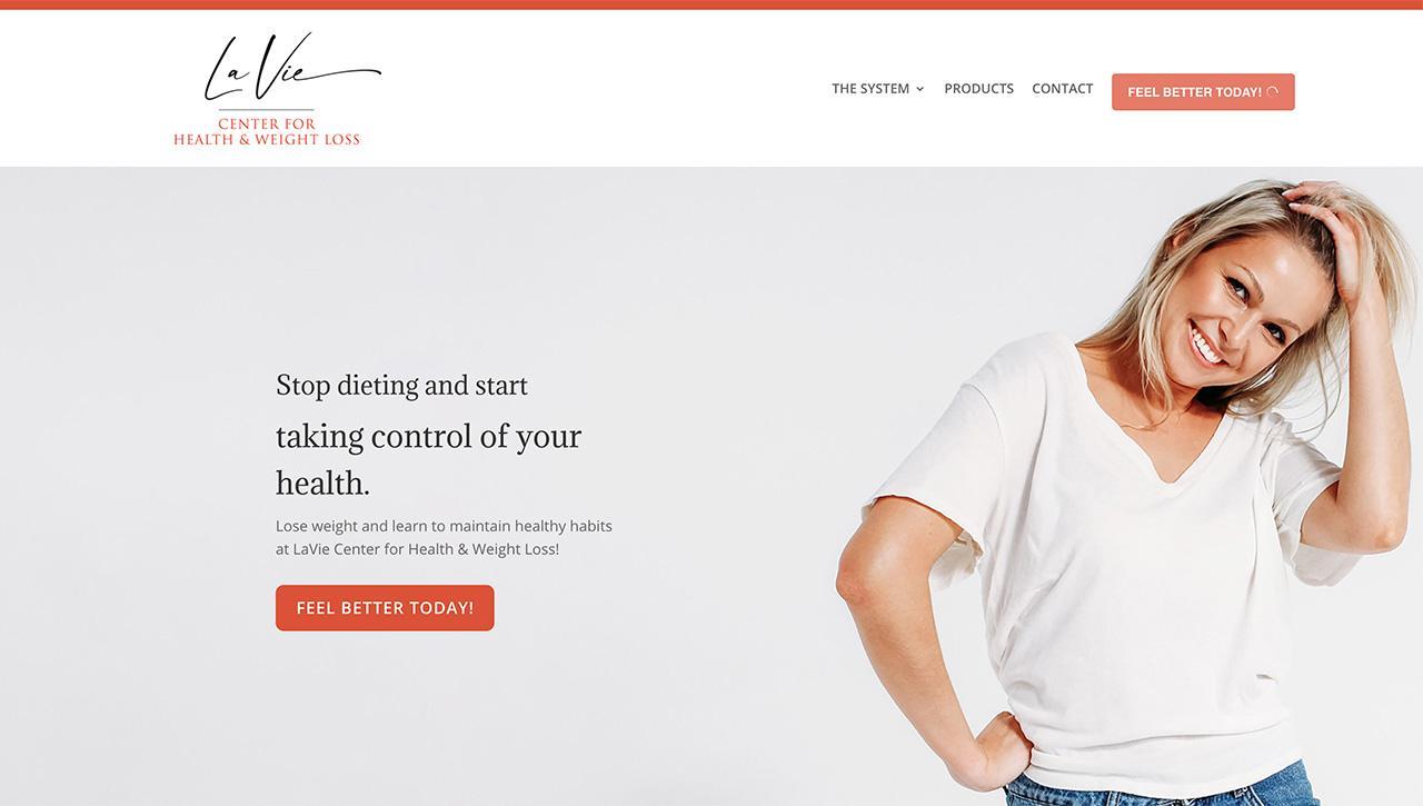 new design of lavie website