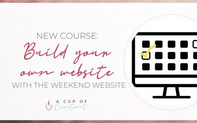 New course: Build your own website with The Weekend Website